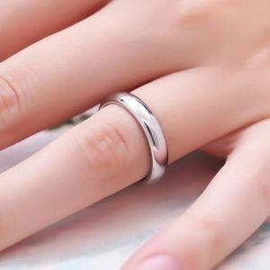 Titanium Steel Silver & Rose Gold 4mm/1.5m Ring